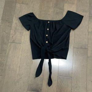 Button crop top